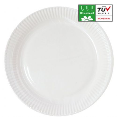 Compostable White 23cm Paper Plates (10pk)